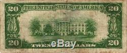 1928 $20 Small Size United States GOLD CERTIFICATE Currency Note FR#2402 FINE