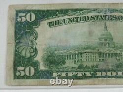1928 $50 Gold Certificate Certified PCGS FINE 15 Apparent