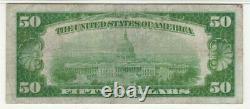 1928 $50 Gold Certificate Note Fr. 2404 Aa Block Pmg Very Fine Vf 25 (348a)