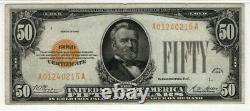 1928 $50 Gold Certificate Note Fr. 2404 Aa Block Pmg Very Fine Vf 30 (215a)