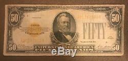 1928. $50 Gold certificate, fine