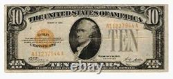 1928 FR-#2400 $10 Ten Dollar Gold Certificate Note Grading FINE 7944