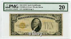 1928 Fr. 2400 $10 United States Gold Certificate Note PMG Very Fine 20