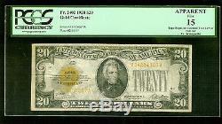 1928 US $20 Gold Certificate Fr. 2402 PCGS Fine 15 m