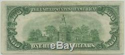 1934A One Hundred Dollar $100 Mule Reserve Note PCGS Very Fine 35