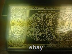 1997 Half Pound (8 Try oz.) Golden Certificate. 999 Pure Fine Silver Washington