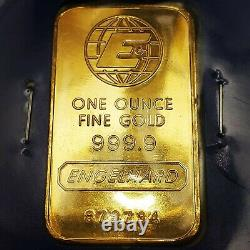 1 oz Engelhard Gold Bar. 9999 Fine Gold With Assay Certificate
