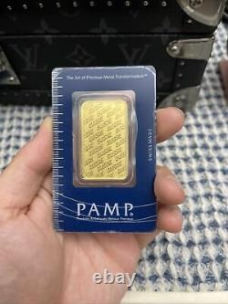 1 oz Pamp Suisse Gold Bar. 9999 Fine Gold With Sealed Assay Certificate