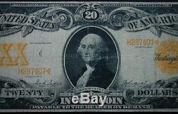 $20 1906 Gold Certificate Pmg Choice Fine 15 Excellent Bright Orange Back