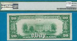 $20. 1928 Gold Seal Gold Certificate Pmg Choice Very Fine 35