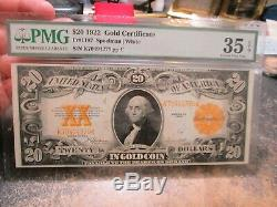 20 Dollar Lage Size Note Series Of 1922 Gold 1187 In Pmg Vf30 Very Fine Choice