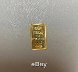24K Pure Gold Pamp Suisse 1 Gram Fine Gold Bar With Certificate