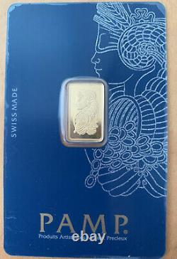 2.5g Fine Gold bullion Pamp new sealed with certificate Swiss Made Suisse 999.9