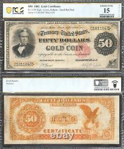 $50 1882 Gold Certificate=Fr. 1193=Silas Wright=PCGS-B Ch Fine 15