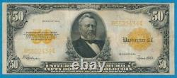 $50. Fr. 1200 1922 Gold Seal Gold Certificate Very Fine