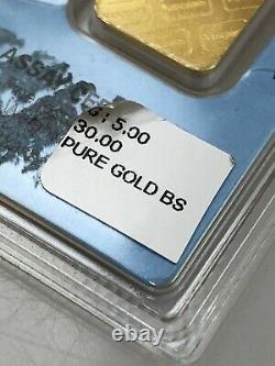 5 Gram Valcambi Suisse Bar Assay Certificate 24 Karat Fine Gold 999.9 247205