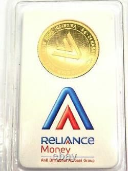 5 Gram Valcambi Suisse Round Assay Certificate 24 Carat Fine Gold 999.9 #