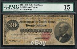 Affordable Genuine Fr #1178 $20 Gold Coin Certificate Pmg 15 Choice Fine 1882