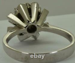 Amazing Art-Deco 14k white gold, 1.41ct Green Sapphire&Diamonds ring+CERTIFICATE