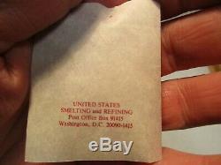 American Gold Bullion 1 Gram 999 Fine Gold Coin Pendant w Bezel Certificate Case