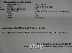 Antique 18KW-Platinum JACKSON Designer 1.23 cttw Diamond Ring with Certificate