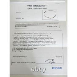 Antique Diamond Necklace Platinum 18k Gold 9ct Diamonds GIA Certificate (5270)