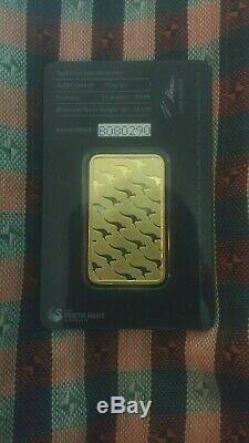Australian Perth Mint 1oz 99.99 Fine Gold Bullion Bar In Certificate of Assayeur
