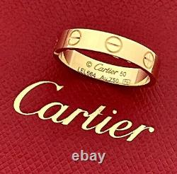 Authentic Cartier Love Ring 18k Yg, Certificate Of Authenticity, Ret Us $1,110