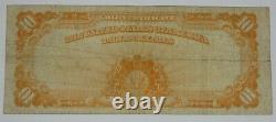 BARGAIN Series of 1922 Large Size $10 Gold Certificate Note FINE Fr#1173