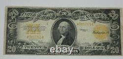 BARGAIN Series of 1922 Large Size $20 Gold Certificate Note FINE Fr#1187