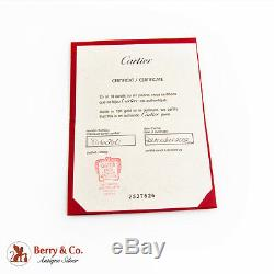 Cartier Maillon Panthere Three Row Ring 18K White Gold Cartier Certificate
