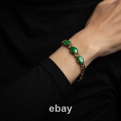 Certified Natural A Grade Jadeite Jade Ring Estate Platinum Diamond Certificate