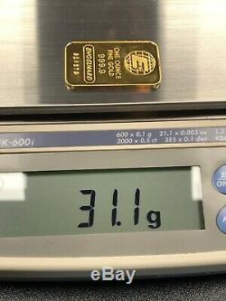 Engelhard One Ounce Fine Gold 999.9 Bar With Assay Certificate-1 Oz. Bullion