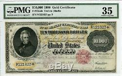 FR1225h $10,000 1900 Gold Note PMG 35 Choice Very Fine (#595 DFP 4/6)