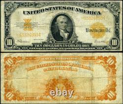 FR. 1173 $10 1922 Gold Certificate Fine