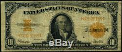 FR. 1173 $10 1922 Gold Certificate Fine Pinholes