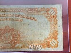 FR. 1173 1922 $10 Gold Certificate Graded By PCGS FINE 12