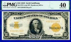FR-1173 1922 $10 (Gold Certificate) PMG Extremely Fine 40 # K52508915