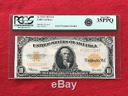 FR-1173 1922 Series $10 Ten Dollar Gold Certificate PCGS 35 PPQ Very Fine
