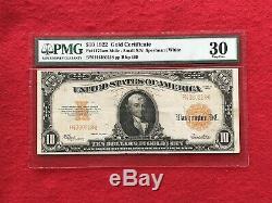FR-1173am 1922 Series MULE $10 Ten Dollar Gold Certificate PMG 30 Very Fine