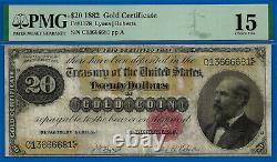 FR-1178 1882 $20 (Gold Certificate) PMG Choice-Fine 15 # C13666681