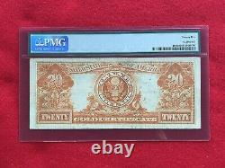 FR-1186 1906 Series $20 Gold Certificate PMG 25 Very Fine
