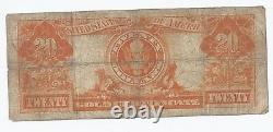 FR. 1186 $20.00 1906 Gold Certificate mid grade circulated fine