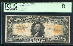 FR. 1187m 1922 $20 TWENTY DOLLARS GOLD CERTIFICATE CURRENCY NOTE PCGS FINE-12