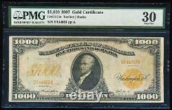 FR. 1219e 1907 $1000 GOLD CERTIFICATE PMG30 VERY FINE