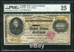 FR. 1225h 1900 $10,000 TEN THOUSAND DOLLARS GOLD CERTIFICATE PMG VERY FINE-25