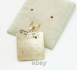 Fine Vintage 1950s/60s 14K Gold Blank Birth Certificate Charm Bracelet Charm