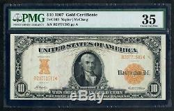 Fr1169 $10 1907 Gold Note Napier / Mcclung Pmg 35 Choice Very Fine Hw3914