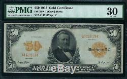Fr1199 $50 1913 Gold Cert Teehee / Burke Pmg 30 Very Fine