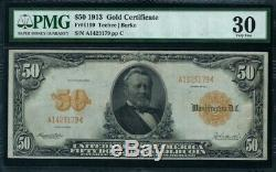 Fr1199 $50 1913 Gold Note Pmg 30 Choice Very Fine